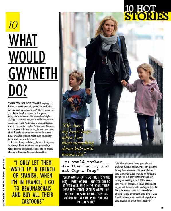 What would Gwyneth do? - Grazia, 2012