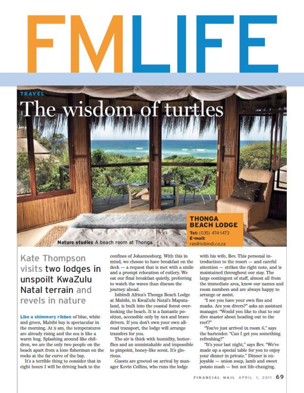 The wisdom of turtles - Financial Mail, 2011