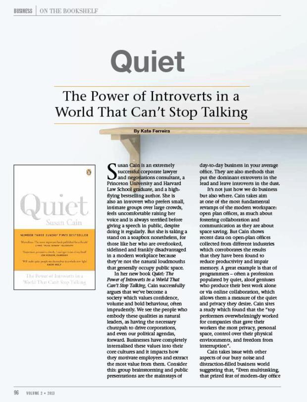 Quiet by Susan Cain review