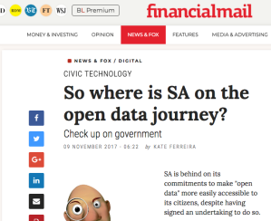 Screengrab from Financial Mail site